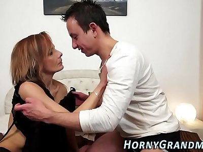 Granny anally creampied