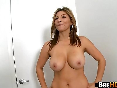 Big tits MILF latina first time facial 1.2